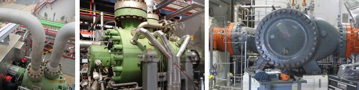 Compressor surge analysis on two different centrifugal compressors