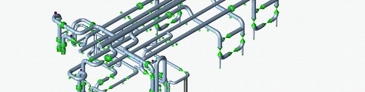Model of piping for Pipe Stress Analysis (Thermal Analysis, Thermal Flexibility)